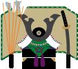 内飾り(兜、鎧など)